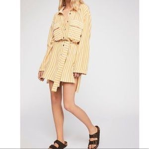 Free People Crossroads tunic-sunflower striped-NWT